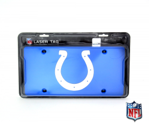 Indianapolis Colts Officially Licensed NFL Mirror Laser Tag License Plate - Blue-0