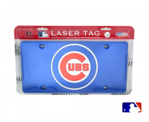 Chicago Cubs Officially Licensed MLB Mirror Laser Tag License Plate - Blue-0