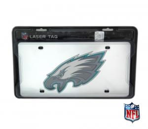 Philadelphia Eagles Officially Licensed NFL Mirror Laser Tag License Plate-0