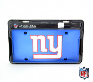 New York Giants Officially Licensed NFL Mirror Laser Tag License Plate - Blue-0