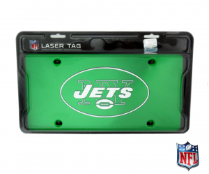 New York Jets Officially Licensed NFL Mirror Laser Tag License Plate - Green-0