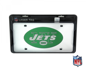 New York Jets Officially Licensed NFL Mirror Laser Tag License Plate-0