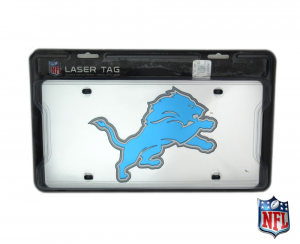 Detroit Lions Officially Licensed NFL Mirror Laser Tag License Plate-0