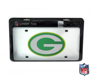 Green Bay Packers Officially Licensed NFL Mirror Laser Tag License Plate-0