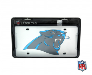 Carolina Panthers Officially Licensed NFL Mirror Laser Tag License Plate-0