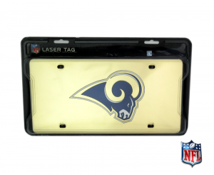Los Angeles Rams Officially Licensed NFL Mirror Laser Tag License Plate - Gold-0