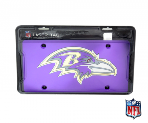 Baltimore Ravens Officially Licensed NFL Mirror Laser Tag License Plate - Purple-0