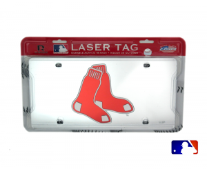 Boston Red Sox Officially Licensed MLB Mirror Laser Tag License Plate-0