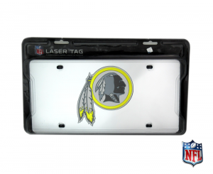 Washington Redskins Officially Licensed NFL Mirror Laser Tag License Plate-0