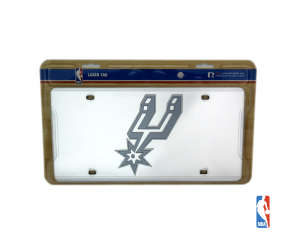 San Antonio Spurs Officially Licensed NBA Mirror Laser Tag License Plate-0