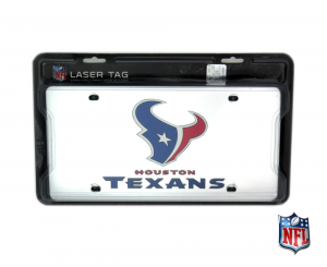 Houston Texans Officially Licensed NFL Mirror Laser Tag License Plate-0