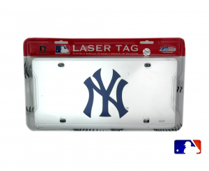 New York Yankees Officially Licensed MLB Mirror Laser Tag License Plate-0