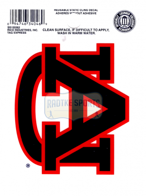 "Offically Licensed NCAA Auburn Tigers Small Static Cling 3.5"" X 4.5""-0"