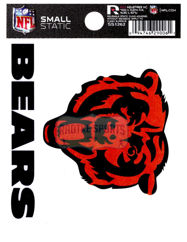 "Offically Licensed NFL Chicago Bears Small Static Cling 3.5"" X 4.5""-0"