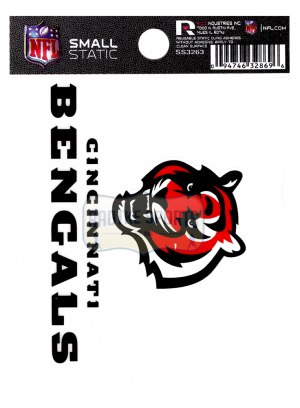 "Offically Licensed NFL Cincinnati Bengals Small Static Cling 3.5"" X 4.5""-21684"