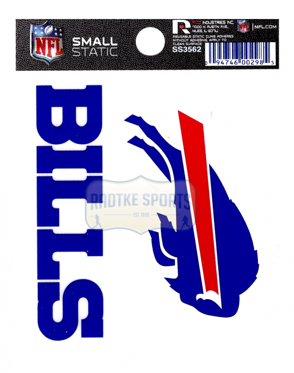 """Offically Licensed NFL Buffalo Bills Small Static Cling 3.5"""" X 4.5""""-0"""