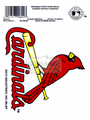 "Offically Licensed MLB St. Louis Cardinals Small Static Cling 3.5"" X 4.5""-0"