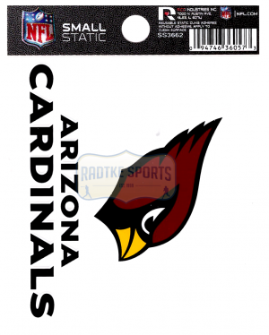 "Offically Licensed NFL Arizona Cardinals Small Static Cling 3.5"" X 4.5""-0"