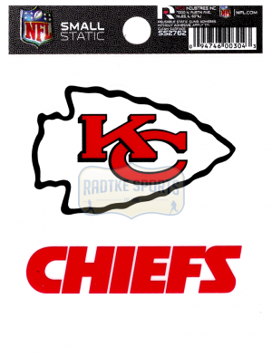 "Offically Licensed NFL Kansas City Chiefs Small Static Cling 3.5"" X 4.5""-0"