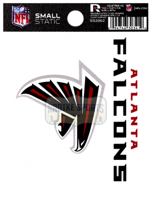 "Offically Licensed NFL Atlanta Falcons Small Static Cling 3.5"" X 4.5""-0"