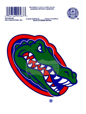 "Offically Licensed NCAA Florida Gators Small Static Cling 3.5"" X 4.5""-0"