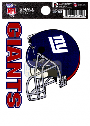 "Offically Licensed NFL New York Giants Small Static Cling 3.5"" X 4.5""-0"