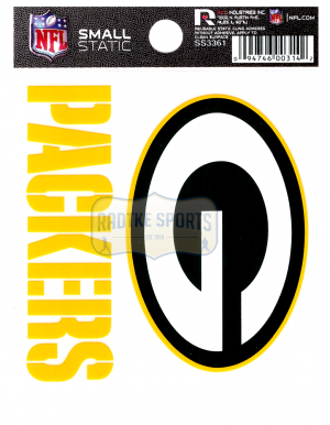 "Offically Licensed NFL Green Bay Packers Small Static Cling 3.5"" X 4.5""-0"
