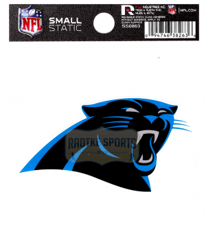 "Offically Licensed NFL Carolina Panthers Small Static Cling 3.5"" X 4.5""-0"