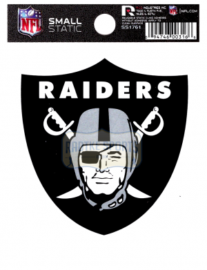 "Offically Licensed NFL Oakland Raiders Small Static Cling 3.5"" X 4.5""-0"