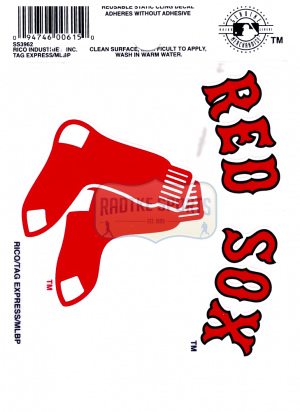 "Offically Licensed MLB Boston Red Sox Small Static Cling 3.5"" X 4.5""-0"