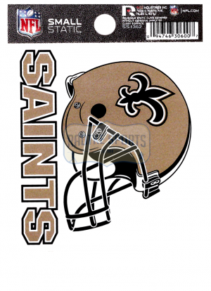 """Offically Licensed NFL New Orleans Saints Small Static Cling 3.5"""" X 4.5""""-0"""