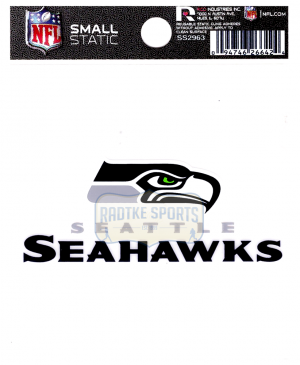 "Offically Licensed NFL Seattle Seahawks Small Static Cling 3.5"" X 4.5""-0"
