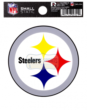 """Offically Licensed NFL Pittsburgh Steelers Small Static Cling 3.5"""" X 4.5""""-0"""