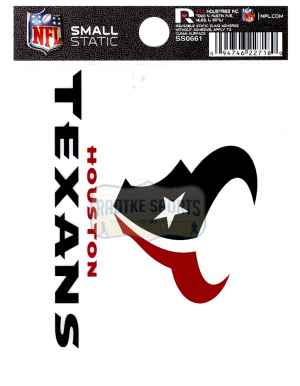 "Offically Licensed NFL Houston Texans Small Static Cling 3.5"" X 4.5""-0"