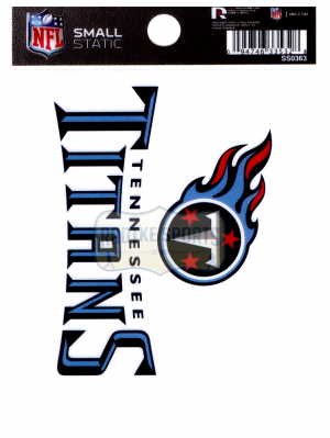"Offically Licensed NFL Tennessee Titans Small Static Cling 3.5"" X 4.5""-0"