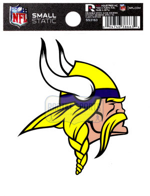 "Offically Licensed NFL Minnesota Vikings Small Static Cling 3.5"" X 4.5""-0"