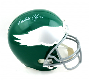 Randall Cunningham Signed Philadelphia Eagles Full Size Throwback Helmet-0