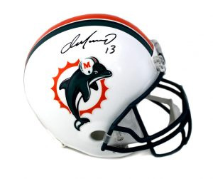 Dan Marino Signed Miami Dolphins Riddell Throwback Replica NFL Helmet - Green Mask-0