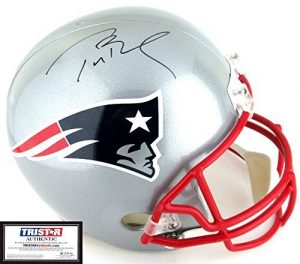 Tom Brady Autographed/Signed New England Patriots Riddell Authentic NFL Helmet - Tristar-0