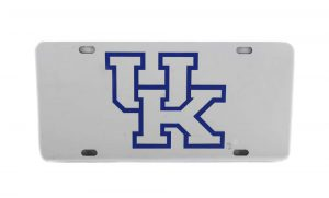 Kentucky Wildcats Officially Licensed NCAA Laser Tag Mirror License Plate -0
