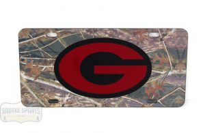 Georgia Bulldogs Officially Licensed NCAA Laser Tag Mirror License Plate - Camoflauge-0