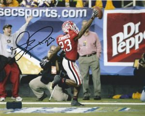 Tim Jennings Autographed/Signed Classic Georgia Bulldogs 8x10 NCAA Photo Dr Pepper-0