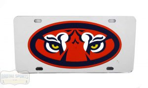 Auburn Tigers Officially Licensed NCAA Laser Tag Mirror License Plate - Tiger Eyes-0