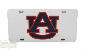 Auburn Tigers Officially Licensed NCAA Laser Tag Mirror License Plate-0