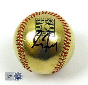 Greg Maddux Autographed/Signed Hall of Fame Commemorative Rawlings 24 Karat Gold Major League Baseball #2 - MLB Authenticated-0