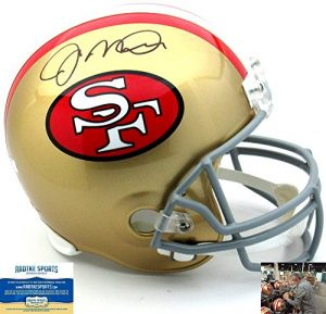 Joe Montana Autographed/Signed San Francisco 49ers Riddell Throwback Full Size NFL Helmet-0
