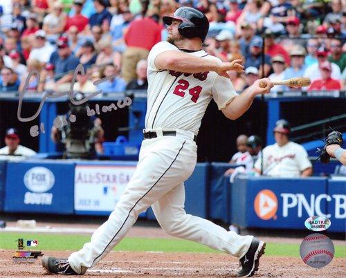 Evan Gattis Autographed/Signed Atlanta Braves 8x10 MLB Photo with El Oso Blanco Inscription-0