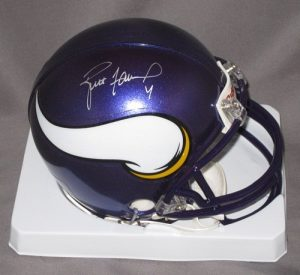 Brett Favre Signed Minnesota Vikings Mini Helmet-0