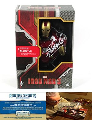 Stan Lee Autographed/Signed Ironman 3 Mark VII Bust Sideshow Collectible Marvel-0