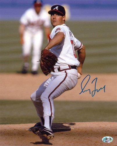Greg Maddux Autographed/Signed Atlanta Braves 8x10 MLB Photo Wind-Up-0
